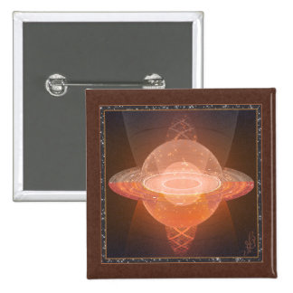 Home Planet Abstract Art 15 Cm Square Badge