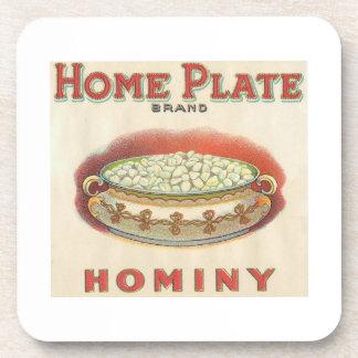 Home Plate Hominy Coaster