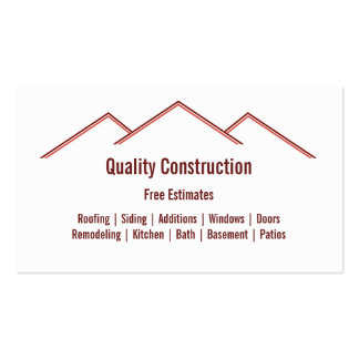 Home Remodeling / Construction Pack Of Standard Business Cards