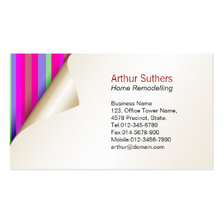 Home Remodelling Business Card Color Wallpaper