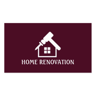 Home Renovation Construction Business Card