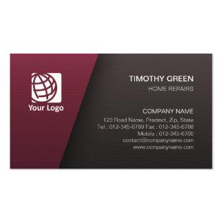 Home Repairs Trade Skills Simple Maroon Black Pack Of Standard Business Cards