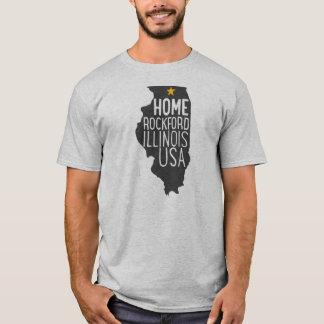 Home: Rockford Illinois USA T-Shirt