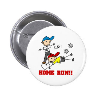 Home Run Baseball Pinback Buttons