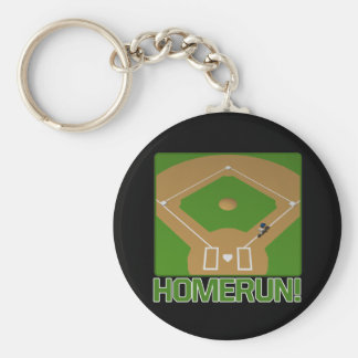 Home Run Basic Round Button Key Ring
