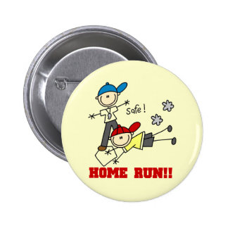 Home Run Boys Baseball Tshirts and Gifts Button