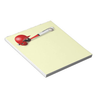 Home Run Game Team Coach Sports Ball Fun Baseball Notepad