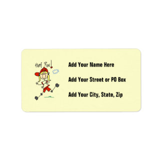 Home Run Girls Softball T-shirts and Gifts Address Label