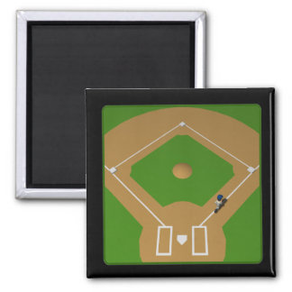 Home Run Square Magnet