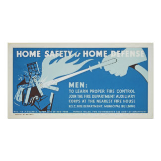 Home Safety Is Home Defense WPA Poster
