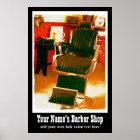 Home Salon or Hairdresser Vintage Advertisement Poster