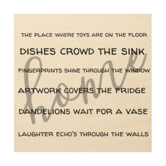 home saying for people with kids wood wall art
