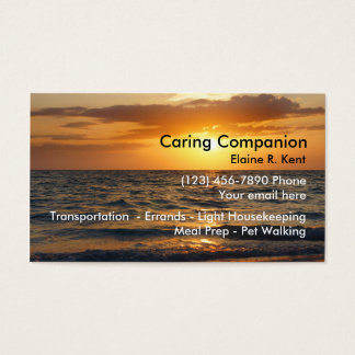 Home Senior Companion Business Card