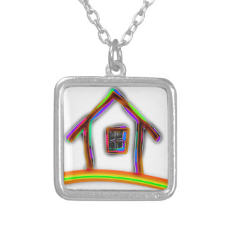 Home Silver Plated Necklace