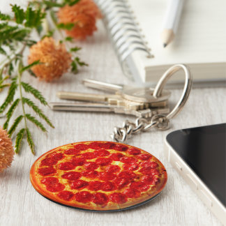 Home Slice Pepperoni Pizza Key Ring