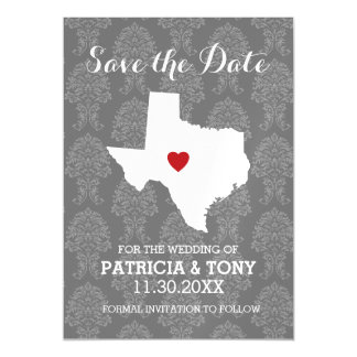 Home State Wedding Save the Date Texas Magnetic Card