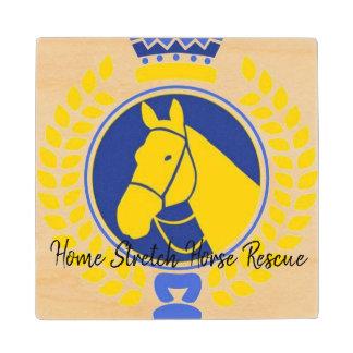 Home Stretch Horse Rescue Wood Coaster