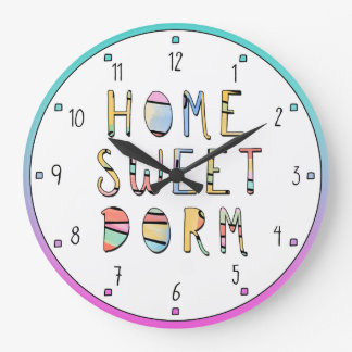 Home Sweet Dorm Wall Clocks