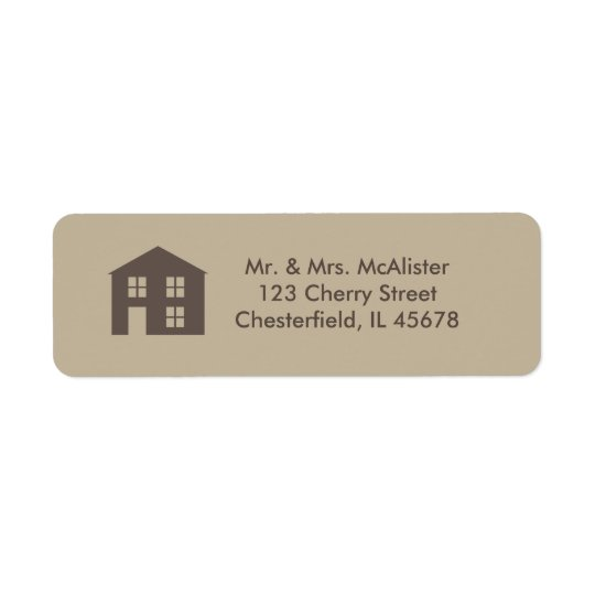 Home Sweet home address label