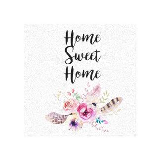 Home Sweet Home Bouquet Canvas Print
