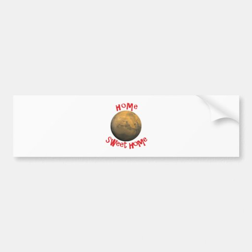 home sweet home bumper stickers