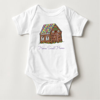 Home Sweet Home Christmas Gingerbread House Baby Bodysuit