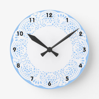 Home Sweet Home Doily Design (with numbers) Clock