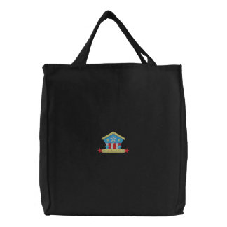 Home Sweet Home Embroidered Tote Bags