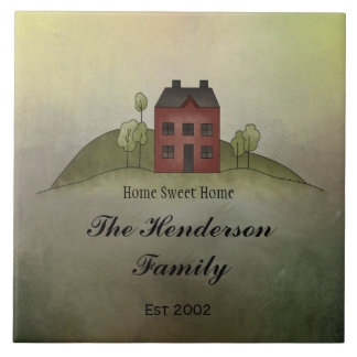 Home Sweet Home Family NameTile Ceramic Tile