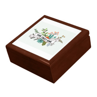 Home Sweet Home Floral Rectangle-01 Large Square Gift Box