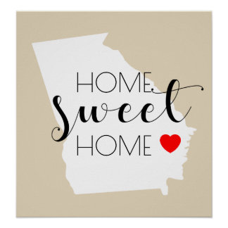 Home Sweet Home | Georgia Poster