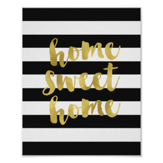Home Sweet Home Gold | Art Print