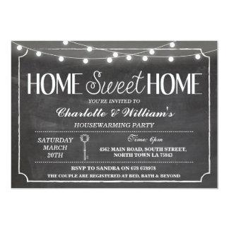 Home Sweet Home Housewarming Black & White Invite