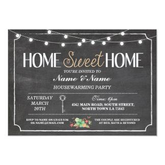 Home Sweet Home Housewarming Chalkboard Key Invite