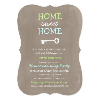 Home Sweet Home Housewarming Invite (More Colors)