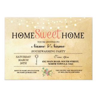 Home Sweet Home Housewarming Vintage Key Invite