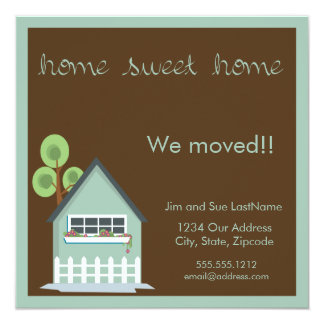 home sweet home 13 cm x 13 cm square invitation card