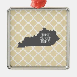 Home Sweet Home Kentucky Metal Ornament