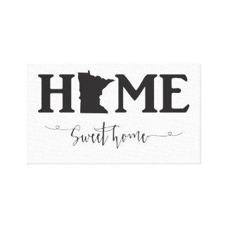 Home Sweet Home Minnesota Canvas Print