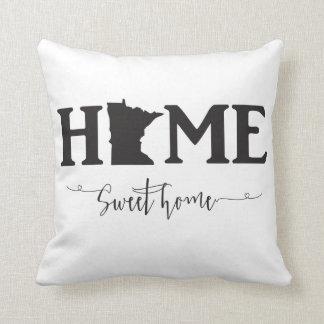 Home Sweet Home Minnesota throw Pillow