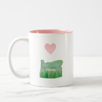 Home Sweet Home Oregon Green Valley Two-Tone Coffee Mug