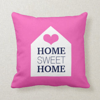 HOME SWEET HOME Pink And Blue Pillow