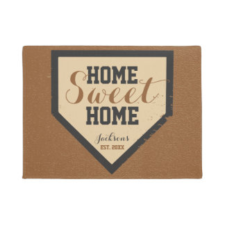 Home Sweet Home Plate Family Name Doormat