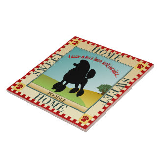 Home Sweet Home Poodle Tile