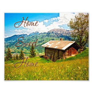 Home Sweet Home Rustic Country Wall Art Photo Art