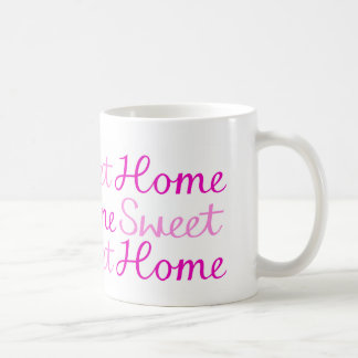 Home Sweet Home Script Design in Pinks Coffee Mug