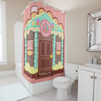 Home Sweet Home shower curtain / playhouse phasod