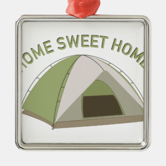 Home Sweet Home Silver-Colored Square Decoration
