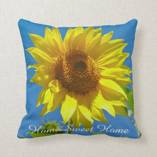Home Sweet Home - Spring Sunflowers Throw Pillow