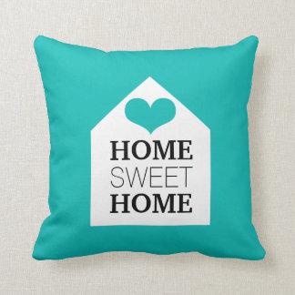 HOME SWEET HOME Tiffany Blue & Black Pillow Cushion